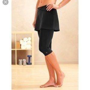 Athleta hitch skirt with built in capris. Medium